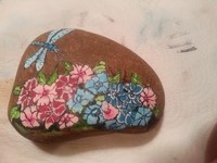EXHIBIT 37 - ROCK PAINTING - DRAGONFLY N IMPATIENTS